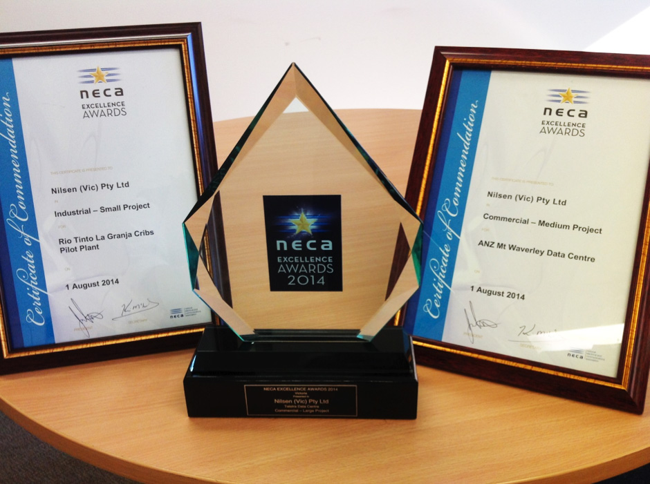 Nilsen (Vic) Wins State NECA Excellence Awards for 2014
