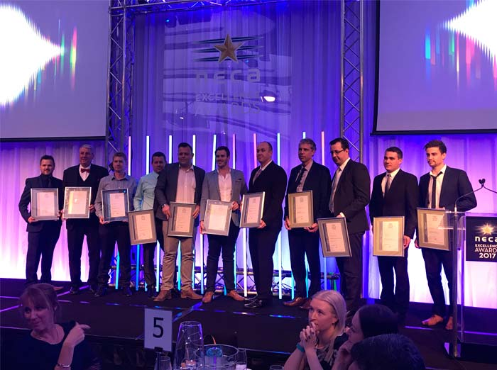 Nilsen QLD take home two awards at Friday's NECA QLD Excellence Awards